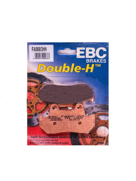 Тормозные колодки EBC FA069/3HH DOUBLE H Sintered