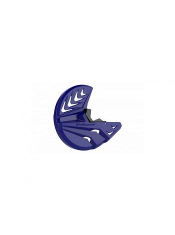Защита переднего тормозного диска и нижней части вилки Yamaha синяя