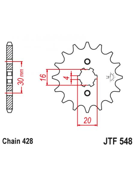 Звезда передняя (ведущая) JT 428_14, JTF548.14