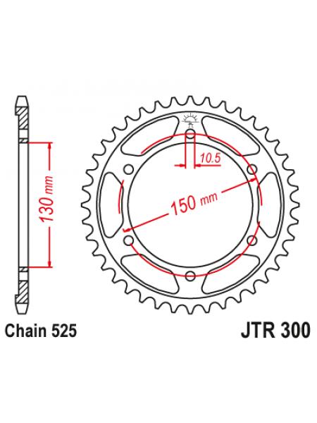 Задняя звезда JT jtr300.46