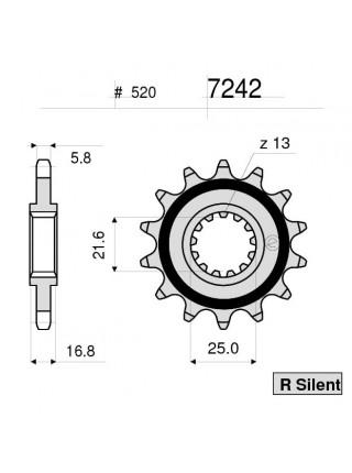 Звезда передняя (ведущая) Ognibene 7242-R16 (JTF1373.16) 367242R16