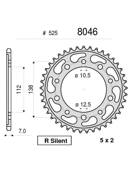Звезда задняя (ведомая) Ognibene 8046-R47 (JTR1304.47 / JTR1877.47)