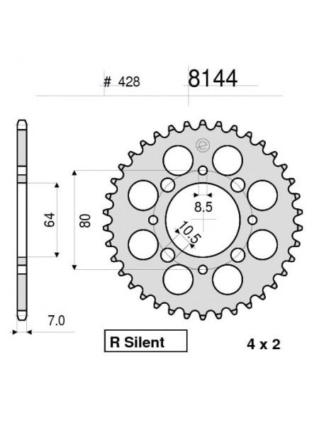 Звезда задняя (ведомая) Ognibene 8144-Z45 (JTR838.45)