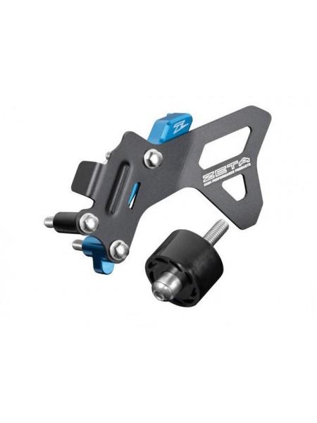 Комплект защиты картера от цепи + ролик ZETA HQV FC450 16-19 синяя