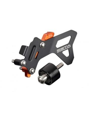 Комплект защиты картера от цепи + ролик ZETA KTM 250 17-19 оранжевая