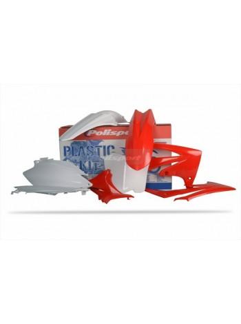 Комплект пластика Polisport на мотоцикл Honda CRF250R, CRF450R 2011-13 бело-красный
