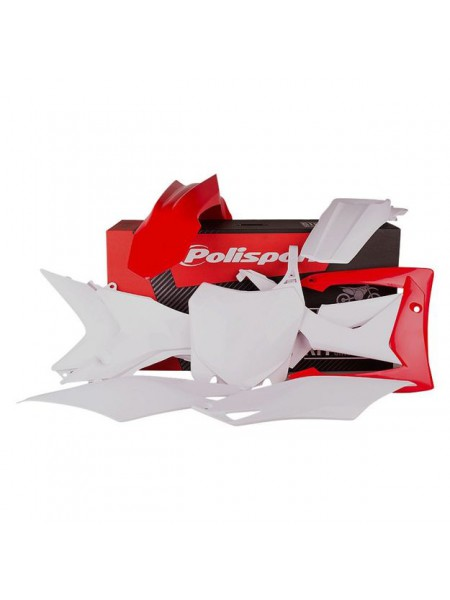 Комплект пластика Polisport на мотоцикл Honda CRF250R, 450R 2013-17 бело-красный