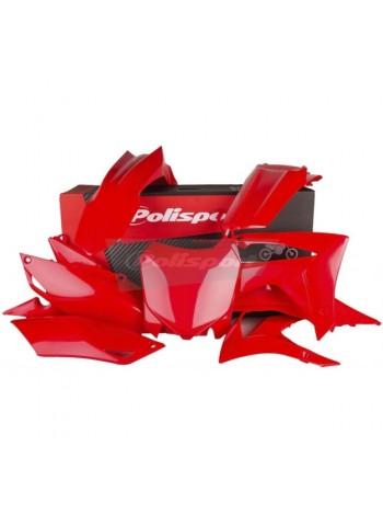 Комплект пластика Polisport на мотоцикл Honda CRF450R 2017, CRF250R 2018 красный