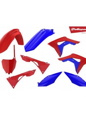 Комплект пластика Polisport на мотоцикл Honda CRF450R 2017, CRF250R 2018 красно-синий