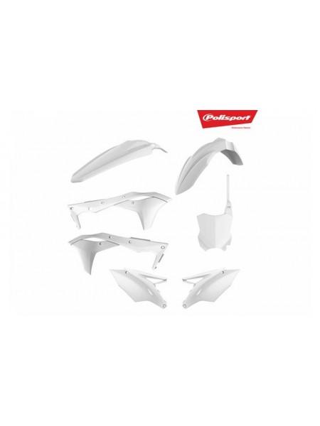 Комплект пластика Polisport на мотоцикл Kawasaki KX250F 2017-19 белый