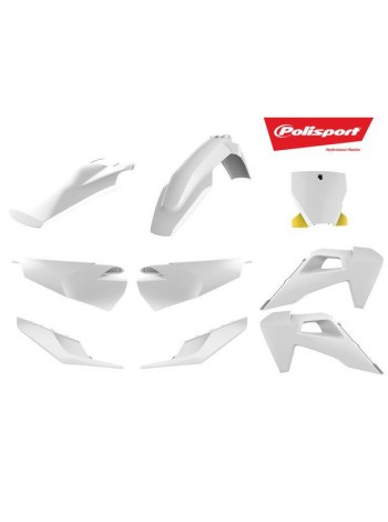 Комплект пластика Polisport на мотоцикл Husqvarna TC125-250, FC250-350-450 2019 белый