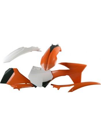 Комплект пластика Polisport на мотоцикл KTM SX 2012, SX-F 2011-12 оранжевый