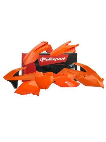 Комплект пластика Polisport на мотоцикл KTM SX, SX-F, XC-F 2016-18 оранжево-белый