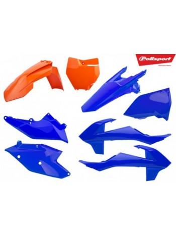 Комплект пластика Polisport на мотоцикл KTM SX, SX-F, XC-F 2016-18 оранжево-синий