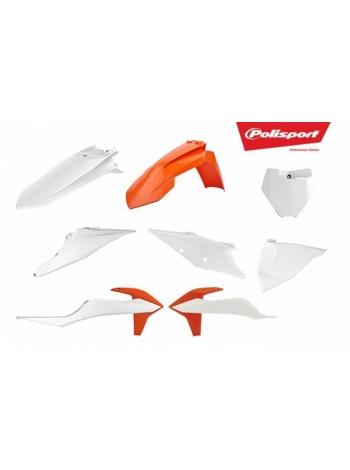 Комплект пластика Polisport на мотоцикл KTM SX, XC, SX-F, XC-F 2019 оранжево-белый