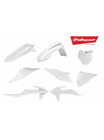 Комплект пластика Polisport на мотоцикл KTM SX, XC, SX-F, XC-F 2019 белый