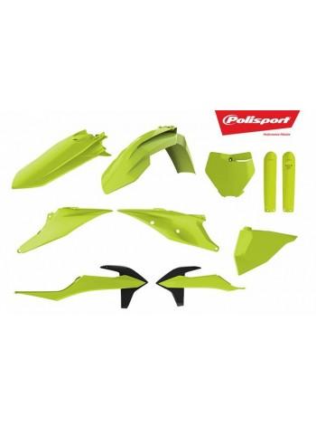 Комплект пластика Polisport на мотоцикл KTM SX, XC, SX-F, XC-F 2019 желто-неоновый