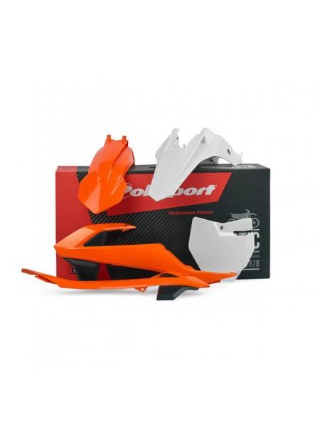 Комплект пластика Polisport на мотоцикл KTM SX65 2016-19 оранжевый-белый