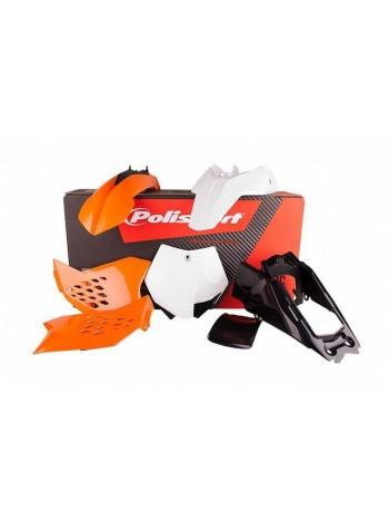 Комплект пластика Polisport на мотоцикл KTM SX65 2012-15 оранжевый