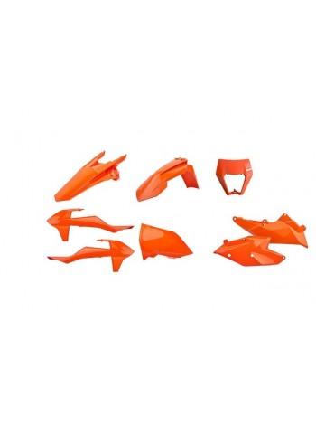 Комплект пластика Polisport на мотоцикл KTM XC, EXC-F 2017-19 оранжевый-флуорисцент