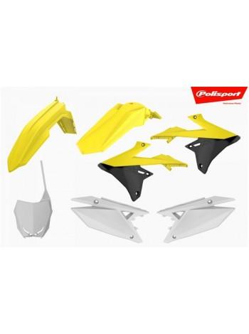 Комплект пластика Polisport на мотоцикл Suzuki RMZ450 2018-19, RMZ250 2019 черный-желтый