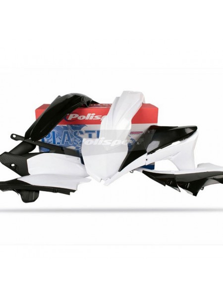 Комплект пластика Polisport на мотоцикл Yamaha YZ450F 2010-13 черно-белый