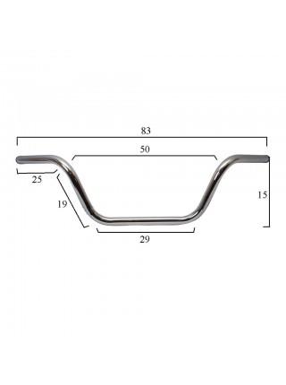 Руль универсальный стальной Medium Buckhorn