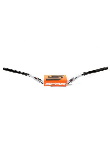 Руль Scar O2 Ø28.6 (1 1/8) RC Style бело-оранжевый