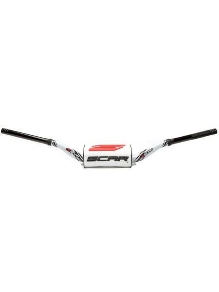 Руль Scar O2 Ø28.6 (1 1/8) под мотоциклы Yamaha YZ белая ручка